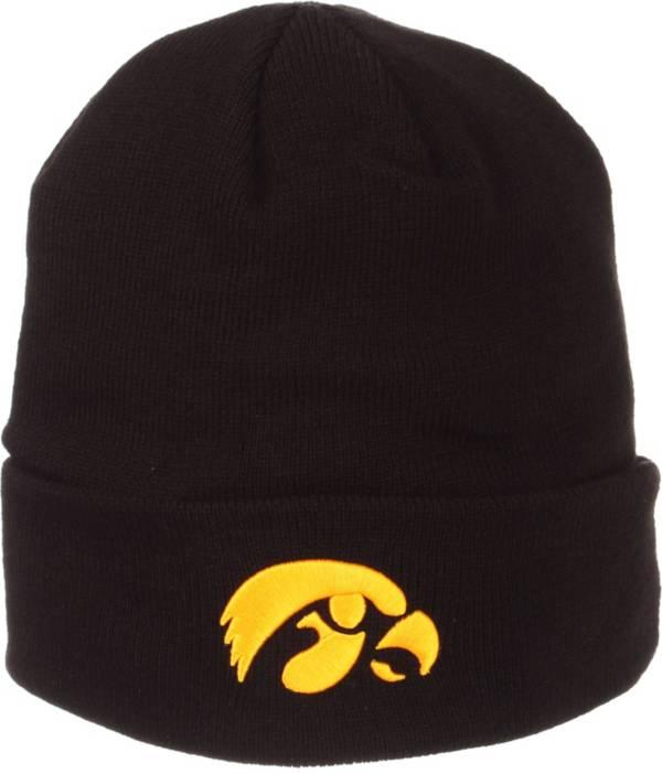 Zephyr Men's Iowa Hawkeyes Cuffed Knit Black Beanie product image