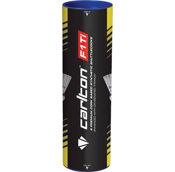 Carlton F1 Ti Synthetic Shuttlecocks Medium 6 Pack product image