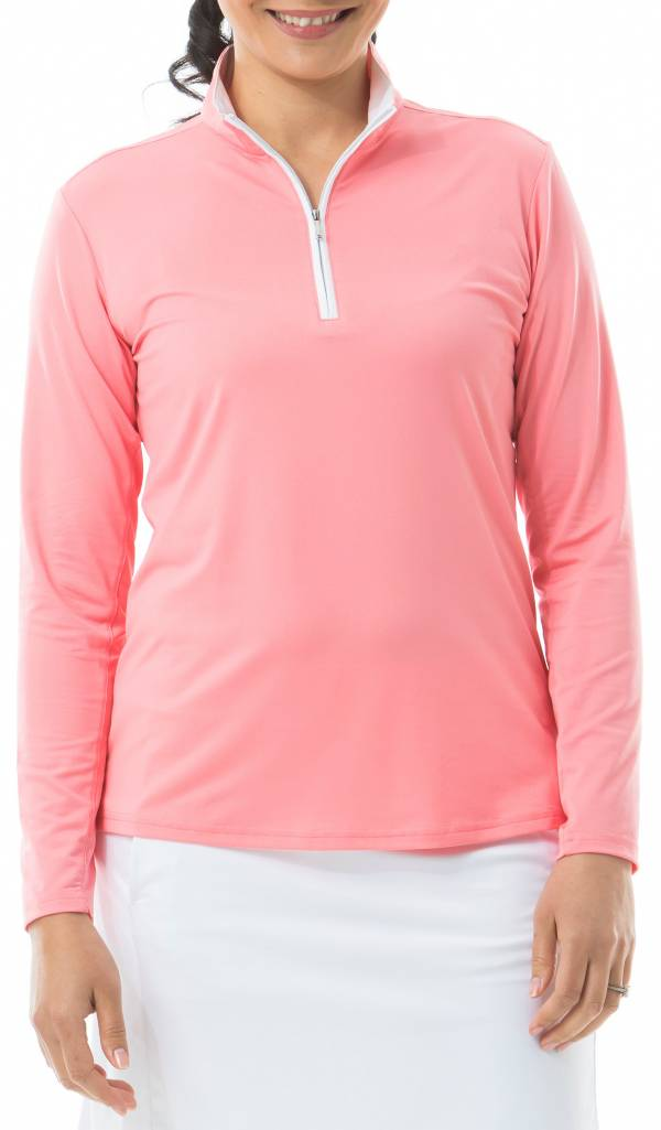 San Soleil Women's Solshine Solid Mock Neck Long Sleeve Golf Shirt product image