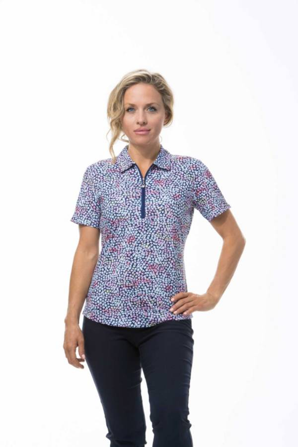 SanSoleil Women's SolCool Fitted Short Sleeve Polo product image