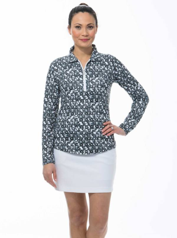 SanSoleil Women's SolCool ZIP Polo product image