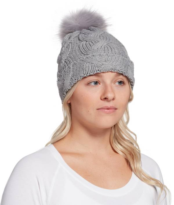 Northeast Outfitters Women's Cozy Cable Knit Fur Pom Beanie product image