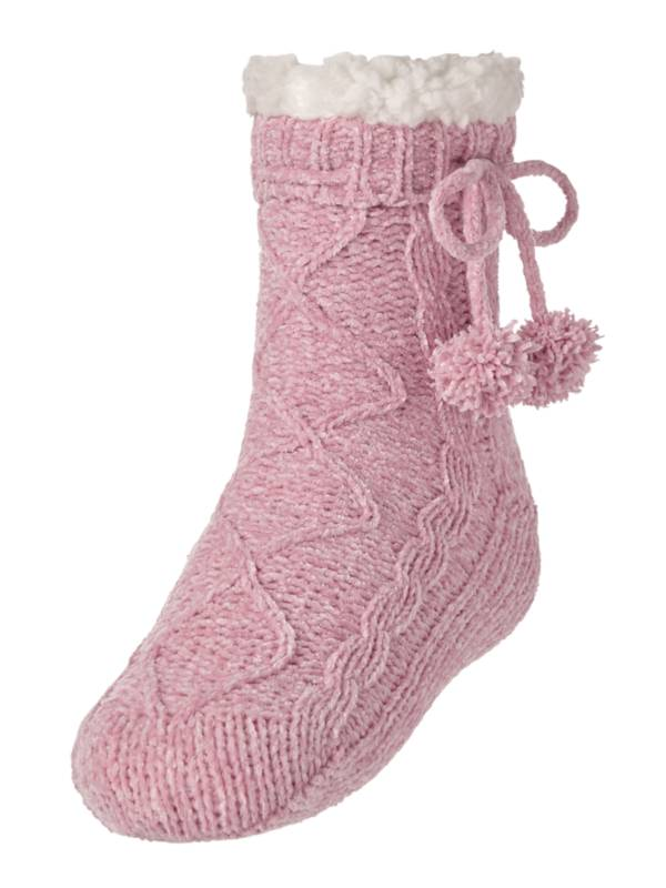 Northeast Outfitters Women's Chenille Pom Cozy Cabin Slipper Socks product image