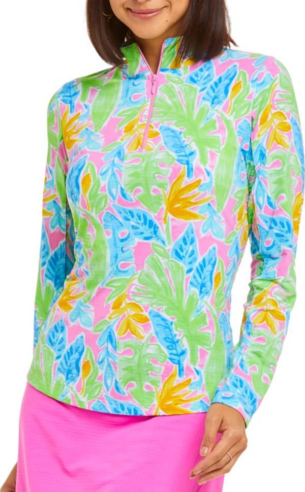 IBKUL Women's Hearts Mock Neck Long Sleeve Shirt product image