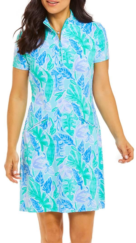 IBKUL Women's Short Sleeve Zip Mock Golf Dress product image