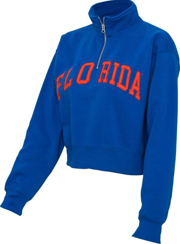 ZooZatz Women's Florida Gators Blue Cropped Quarter-Zip Sweatshirt product image
