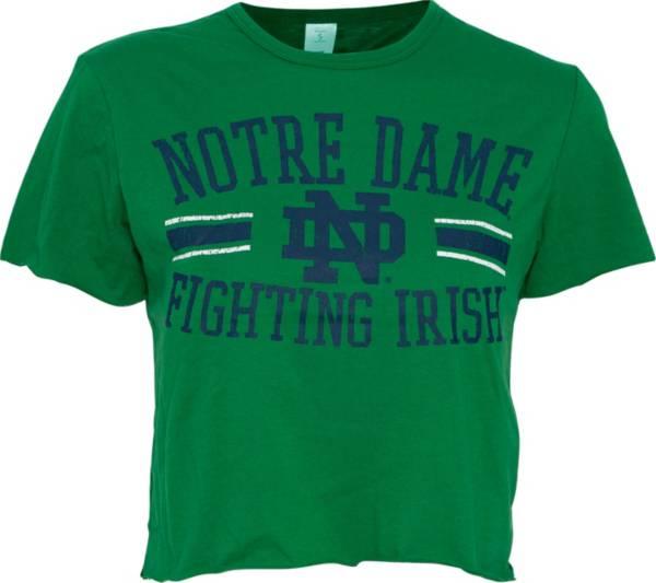 ZooZatz Women's Notre Dame Fighting Irish Green Cropped T-Shirt product image