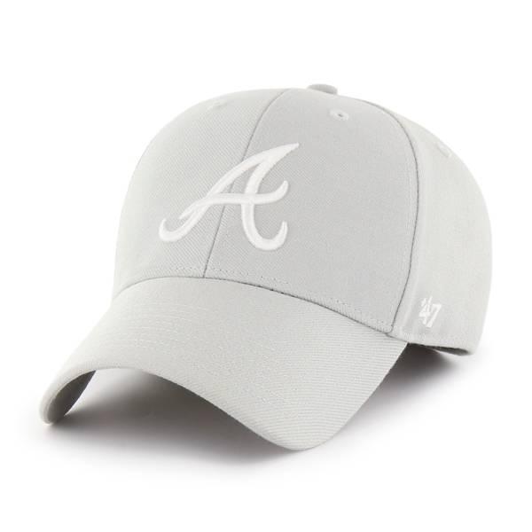 '47 Men's Atlanta Braves Grey MVP Adjustable Hat product image
