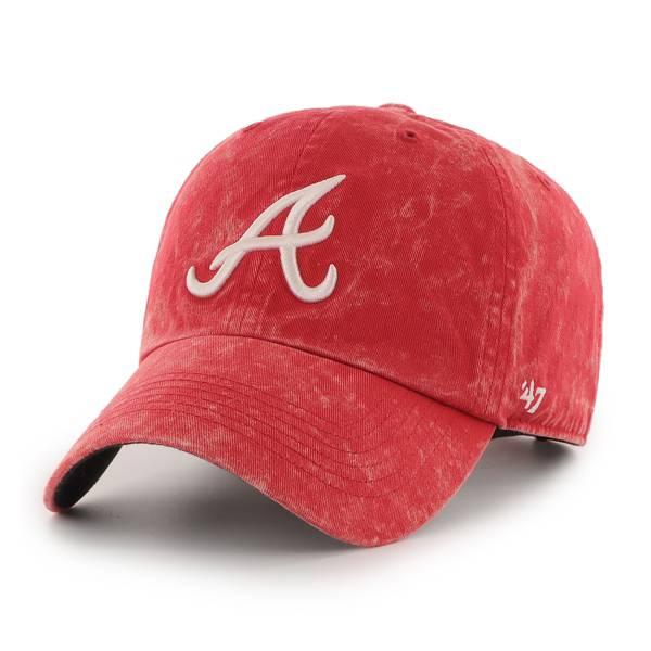 '47 Men's Atlanta Braves Red Adjustable Clean Up Hat product image