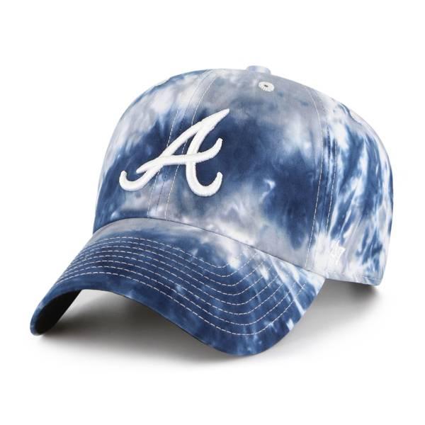 '47 Men's Atlanta Braves White Truckin' Clean Up Adjustable Hat product image