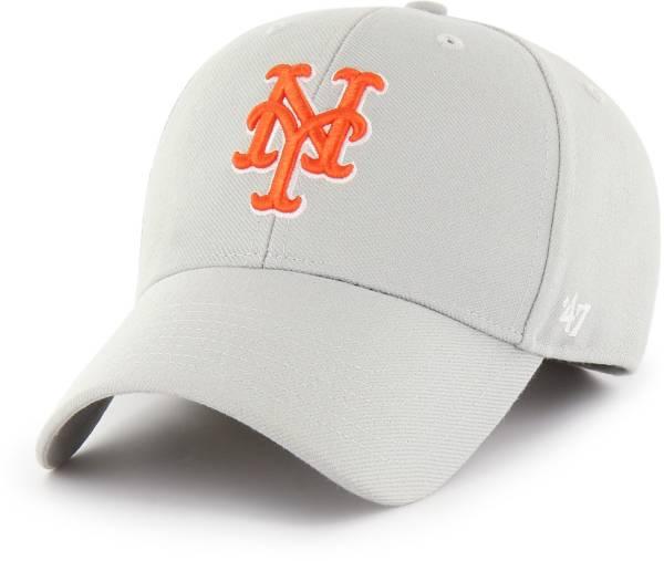 '47 Men's New York Mets Grey MVP Adjustable Clean Up Hat product image