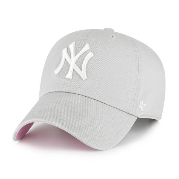 '47 Men's New York Yankees Grey Clean Up Adjustable Hat product image