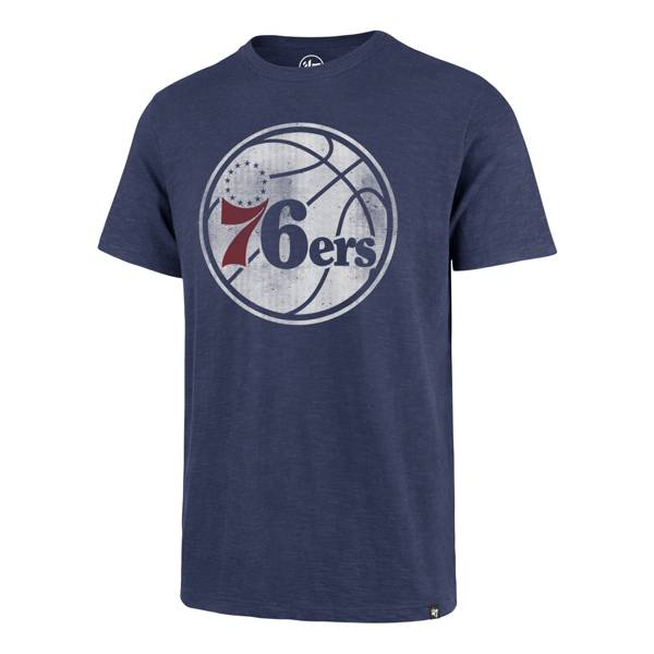 '47 Men's Philadelphia 76ers Blue Logo T-Shirt product image