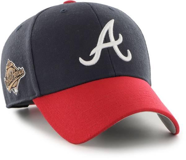 '47 Men's Atlanta Braves Navy Snapback Adjustable MVP Hat product image