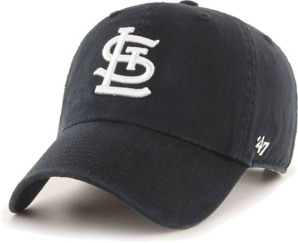 '47 Men's St. Louis Cardinals Black Clean Up Adjustable Hat product image