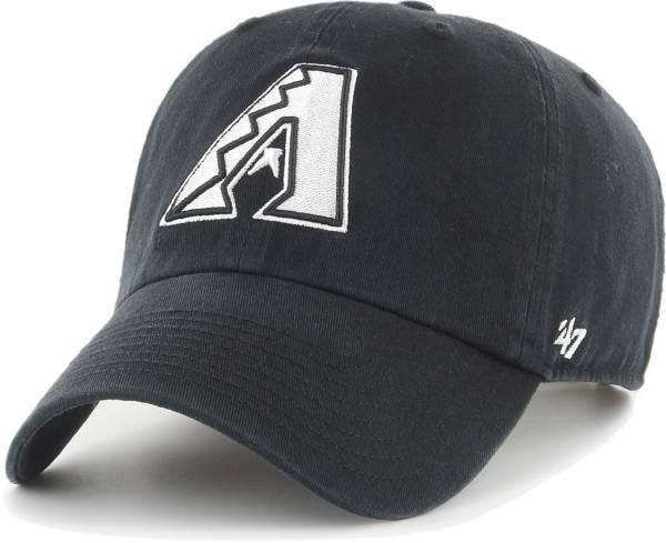 '47 Men's Arizona Diamondbacks Black Clean Up Adjustable Hat product image