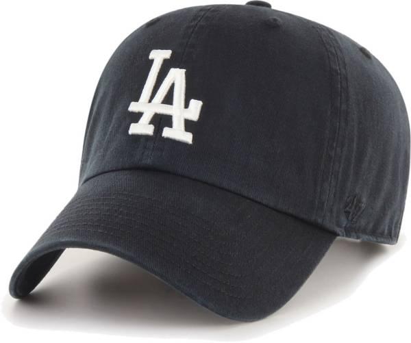 '47 Men's Los Angeles Dodgers Black Clean Up Adjustable Hat product image