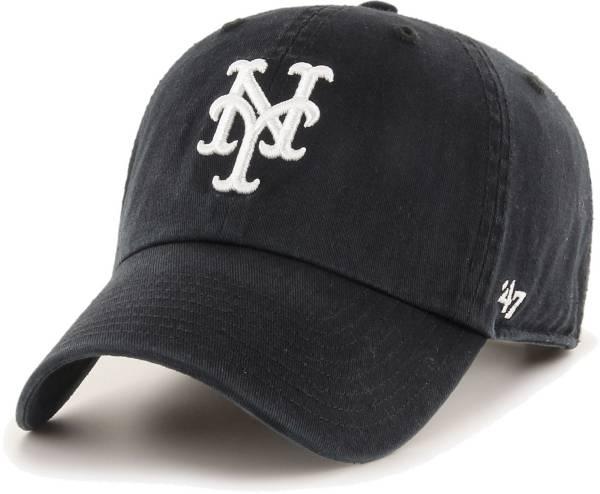 '47 Men's New York Mets Black Clean Up Adjustable Hat product image