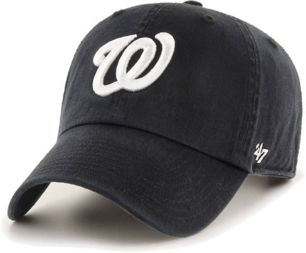 '47 Men's Washington Nationals Black Clean Up Adjustable Hat product image