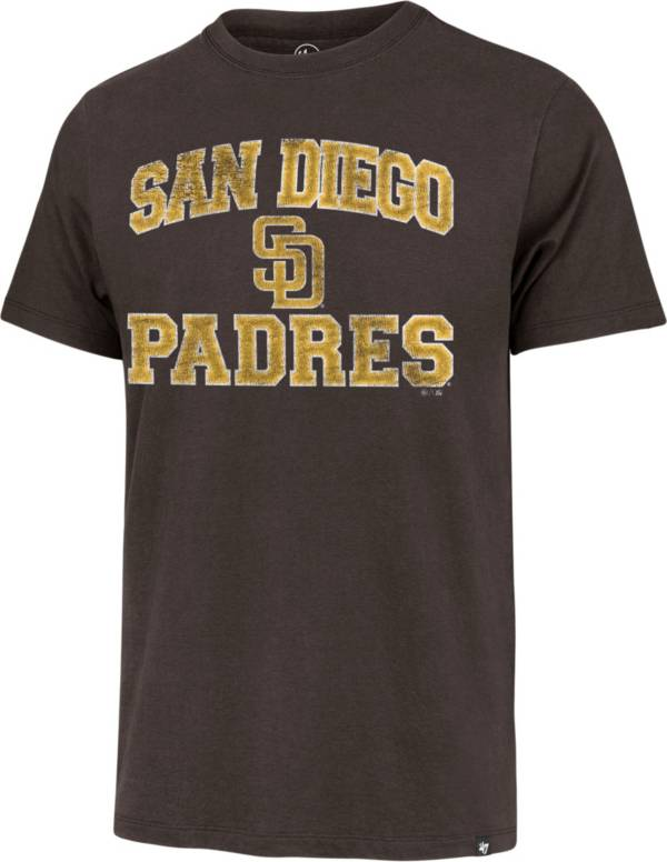 '47 Men's San Diego Padres Brown Union Arch Franklin T-Shirt product image