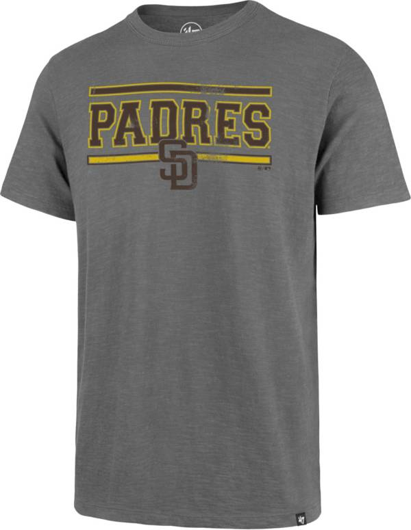'47 Men's San Diego Padres Grey Home Stand Scrum T-Shirt product image