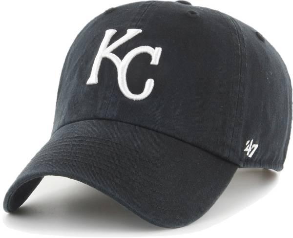 '47 Men's Kansas City Royals Black Clean Up Adjustable Hat product image