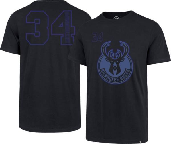 '47 Men's Milwaukee Bucks Giannis Antetokounmpo #34 Navy T-Shirt product image