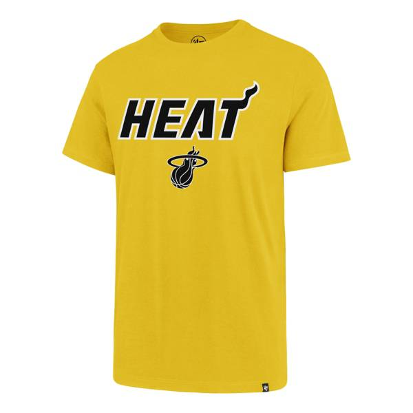'47 Men's 2020 Earned Edition Miami Heat Yellow T-Shirt product image