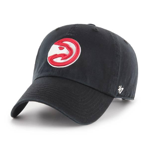 '47 Men's Atlanta Hawks Black Clean Up Adjustable Hat product image