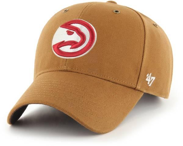 '47 Men's Atlanta Hawks Brown Carhartt MVP Adjustable Hat product image
