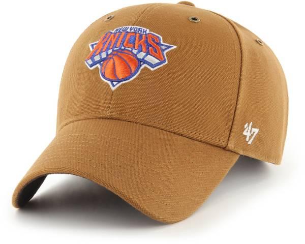 '47 Men's New York Knicks Brown Carhartt MVP Adjustable Hat product image