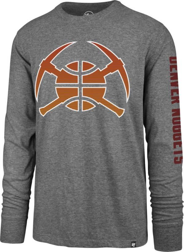 '47 Men's Denver Nuggets Grey 2020-21 City Edition Long Sleeve T-Shirt product image