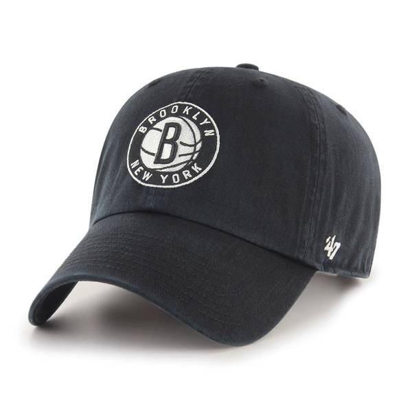 '47 Brooklyn Nets Black Clean Up Adjustable Hat product image
