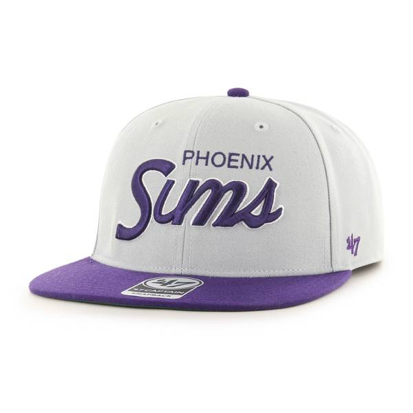 '47 Men's Phoenix Suns Gray Crosstown Captain Adjustable Hat product image