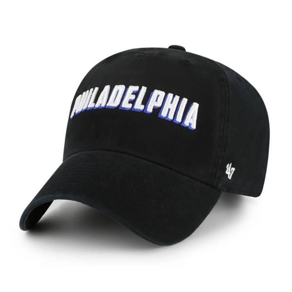 '47 Men's Philadelphia 76ers Black Cleanup Hat product image