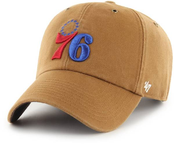 '47 Men's Philadelphia 76ers Brown Carhartt Clean-up Adjustable Hat product image