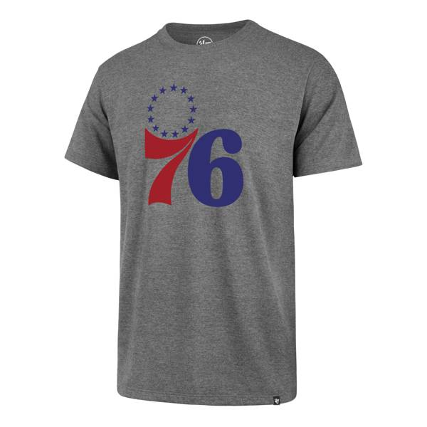 '47 Men's Philadelphia 76ers Grey Logo T-Shirt product image