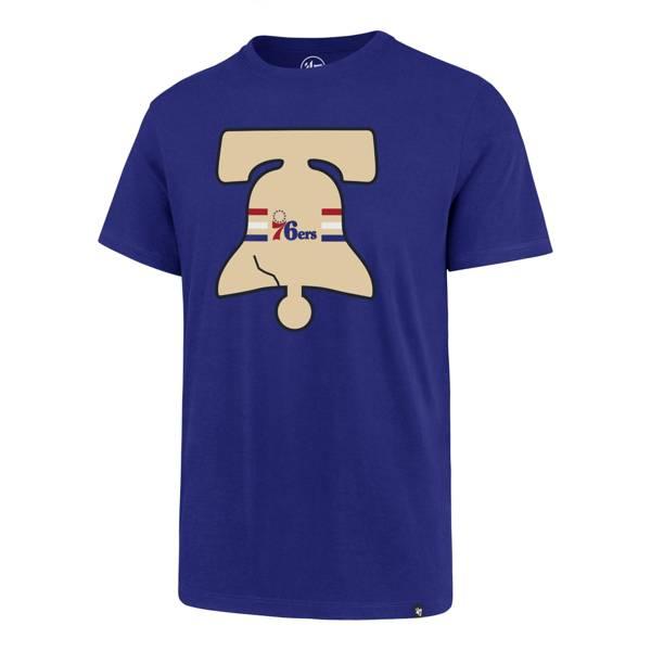 '47 Men's 2020 Earned Edition Philadelphia 76ers Royal Blue T-Shirt product image