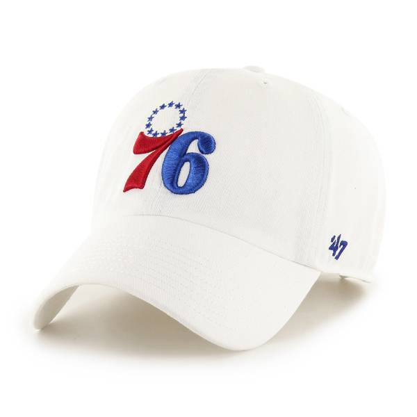 '47 Philadelphia 76ers White Clean Up Adjustable Hat product image
