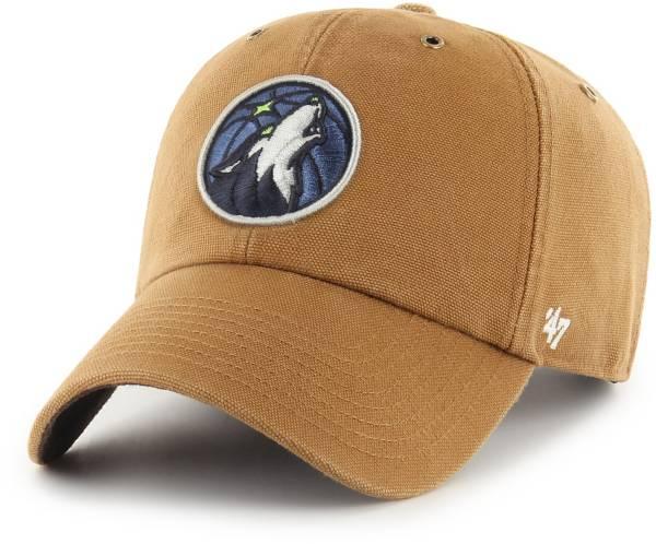'47 Men's Minnesota Timberwolves Brown Carhartt Clean-up Adjustable Hat product image