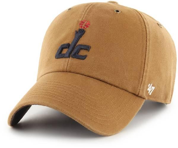 '47 Men's Washington Wizards Brown Carhartt Clean-up Adjustable Hat product image