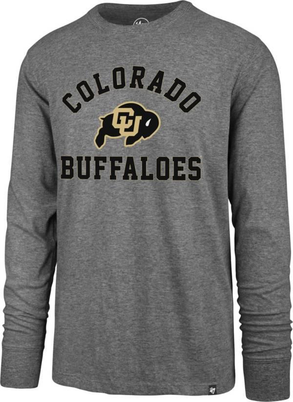 '47 Men's Colorado Buffaloes Grey Super Rival Long Sleeve T-Shirt product image