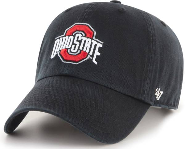 '47 Men's Ohio State Buckeyes Clean Up Adjustable Black Hat product image