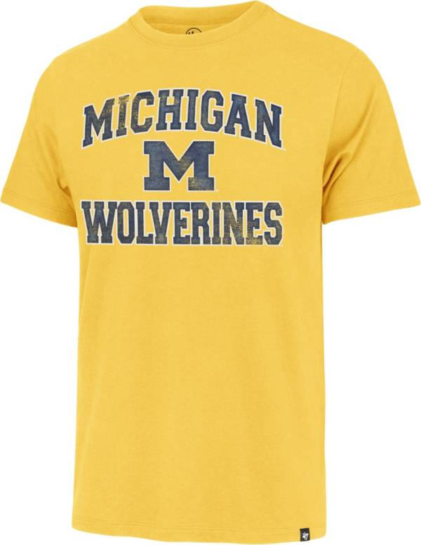'47 Men's Michigan Wolverines Maize Arch T-Shirt product image