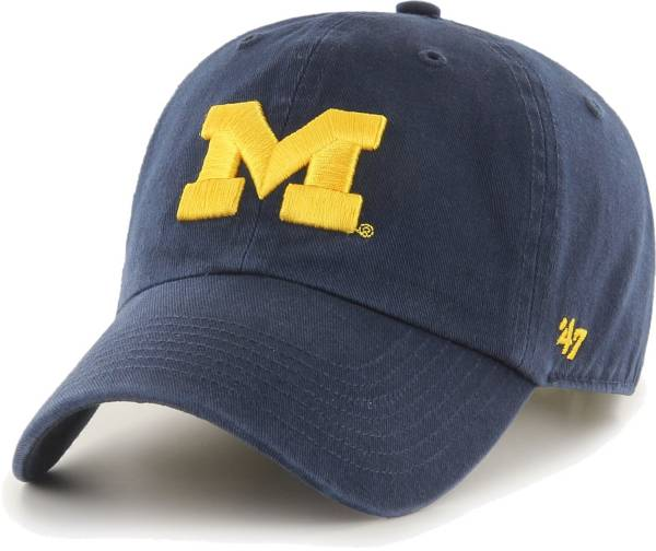 '47 Men's Michigan Wolverines Blue Clean Up Adjustable Hat product image