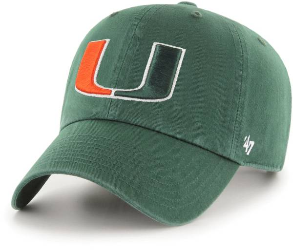 '47 Men's Miami Hurricanes Clean Up Green Adjustable Hat product image