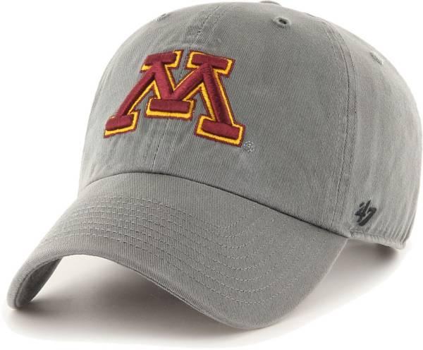'47 Men's Minnesota Golden Gophers Grey Clean Up  Adjustable Hat product image