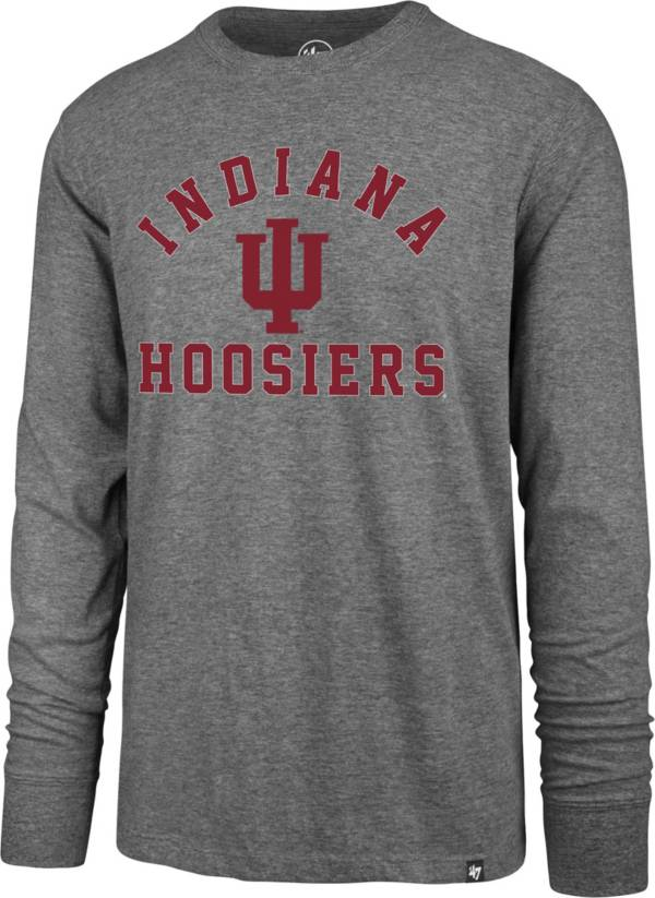 '47 Men's Indiana Hoosiers Grey Super Rival Long Sleeve T-Shirt product image