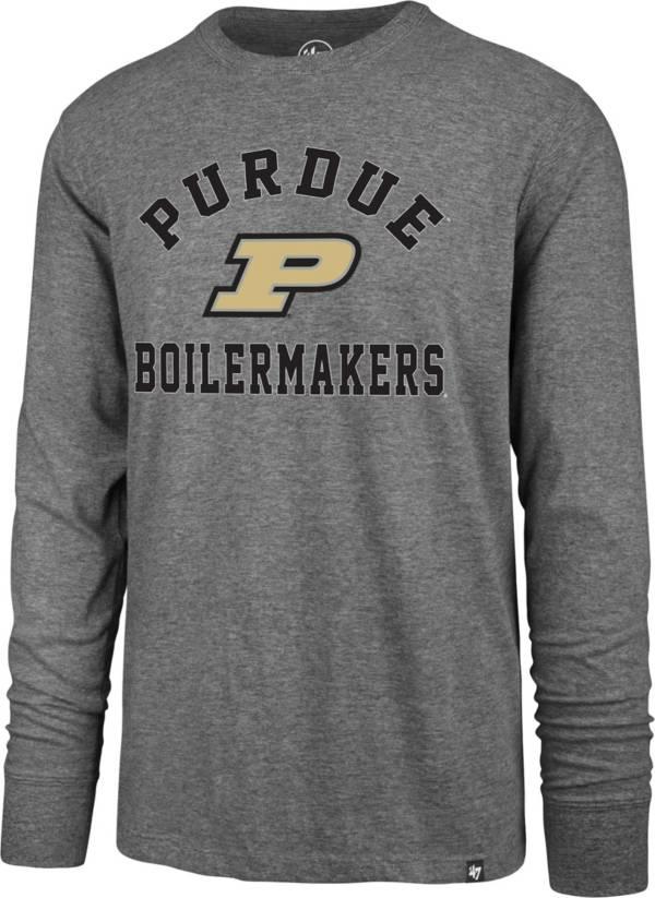 '47 Men's Purdue Boilermakers Grey Super Rival Long Sleeve T-Shirt product image