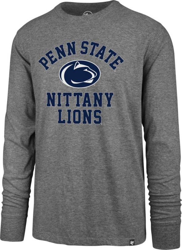 '47 Men's Penn State Nittany Lions Grey Super Rival Long Sleeve T-Shirt product image